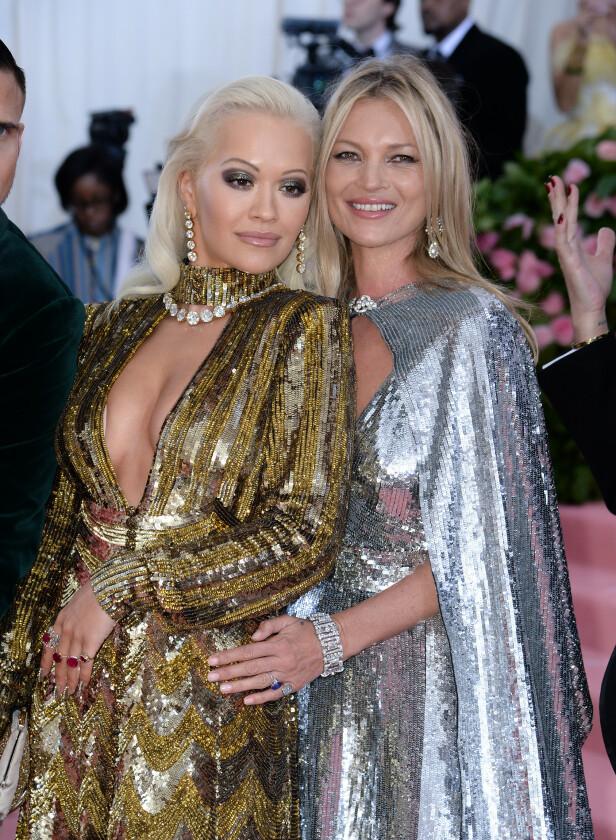 Rita Ora og Kate Moss. Foto: Scanpix