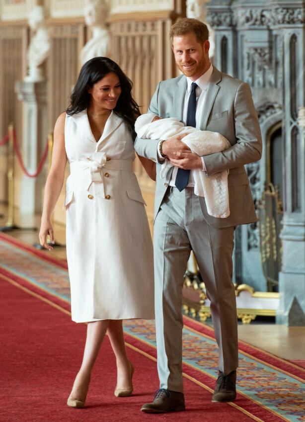 ROLIG: Ifølge hertuginne Meghan er den lille prinsen veldig rolig, og har bare vært en drøm. FOTO: NTB Scanpix