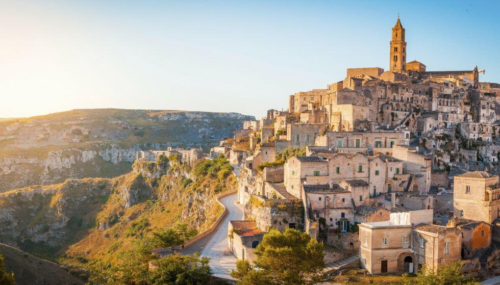 MATERA: Sassi er navnet på gamlebyen i Matera, i regionen Basilicata sør i Italia. FOTO: NTB Scanpix