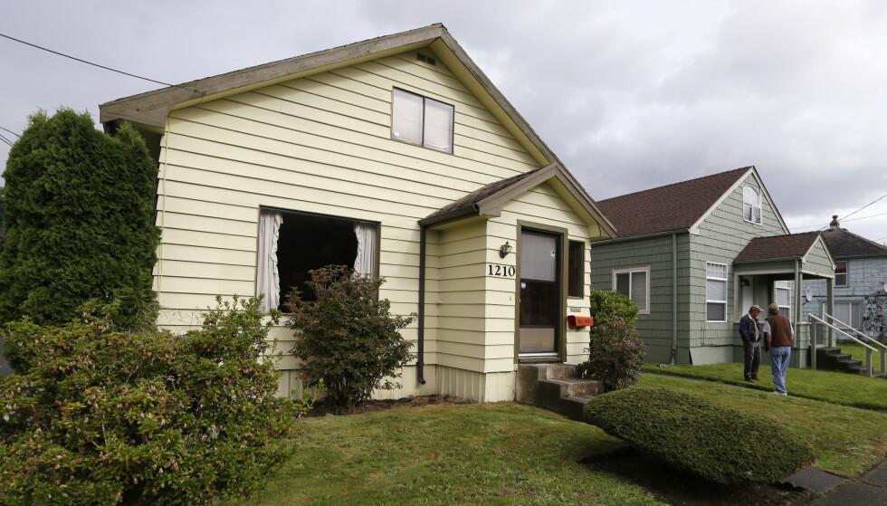 BARNDOMSHJEM: I dette huset i Aberdeen vokste rockelegenden Kurt Cobain opp. FOTO:NTB Scanpix