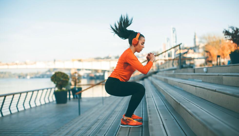 KROPPEN TRENGER ENERGI: Uansett om målet ditt er å bygge muskler eller å løpe 10 km, så trenger kroppen din mat og energi for å oppnå målet. FOTO: NTB