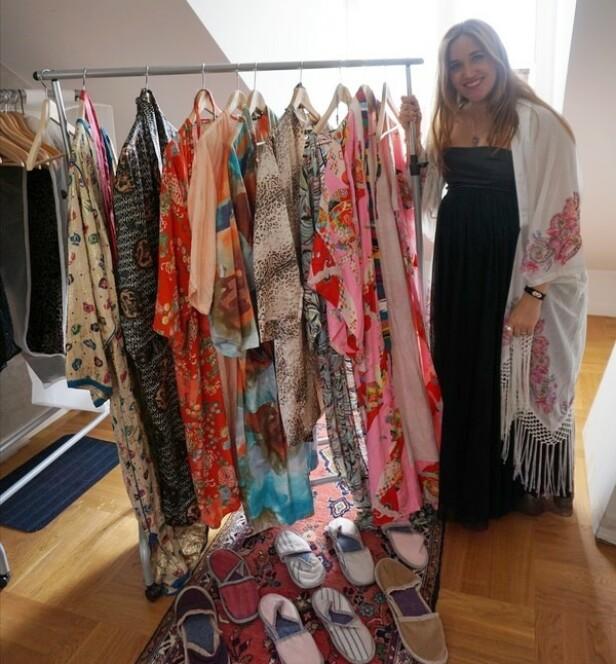 VENNINNENE ARRANGERTE SPA: Alle gjestene fikk egne kimonoer og tøfler som de kunne ha på seg i den hjemmelagde spa-avdelingen, som bestod av badstue og pedikyr. FOTO: Privat