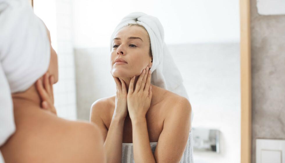 VISSTE DU AT: .. de fleste av oss gjør en rekke feil når det kommer til hvordan vi pleier huden vår? Foto: NTB Scanpix