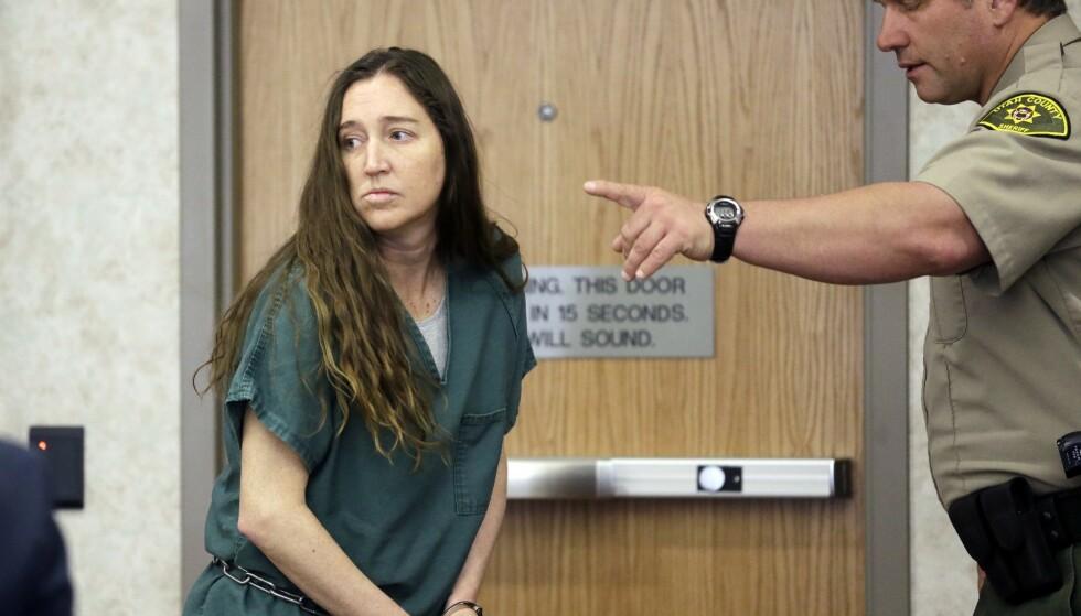 DREPTE SINE SEKS NYFØDTE BARN: Meghan Huntsman ga uttrykk for at hun drepte sine seks nyfødte barn for å skåne dem for et forferdelig liv. Her fra rettsaken i april 2014. FOTO: NTB Scanpix