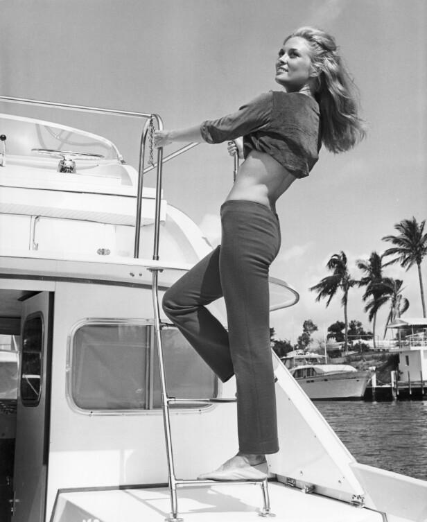 FAYE DUNAWAY: Fotografert på en båt i 1967. Foto: Mary Evans Picture