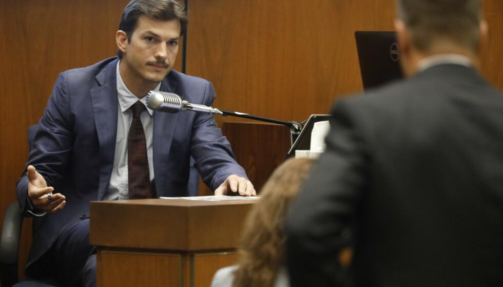 VITNER: Ashton Kutcher er en av flere vitner i rettssaken som foregår i Los Angeles i 2019. FOTO: NTB Scanpix