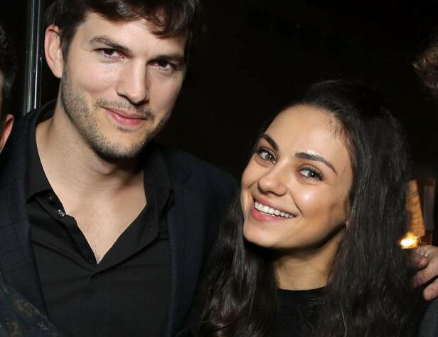 KONA: Ashton Kutcher er i dag gift med skuespillerkollega Mila Kunis, og sammen har de to barn. FOTO: NTB Scanpix
