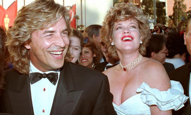 <strong>GOLDIELOCKS:</strong> Melanie Griffith og Don Johnson fra Miami Vice, som hun giftet seg med to ganger, første gang da hun var 18. FOTO: NTBScanpix
