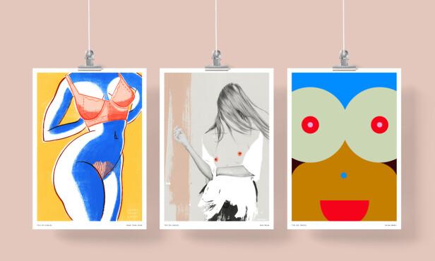 BOOBS: Alle de ulike kunstverkene har pupper som tema. FOTO: Privat