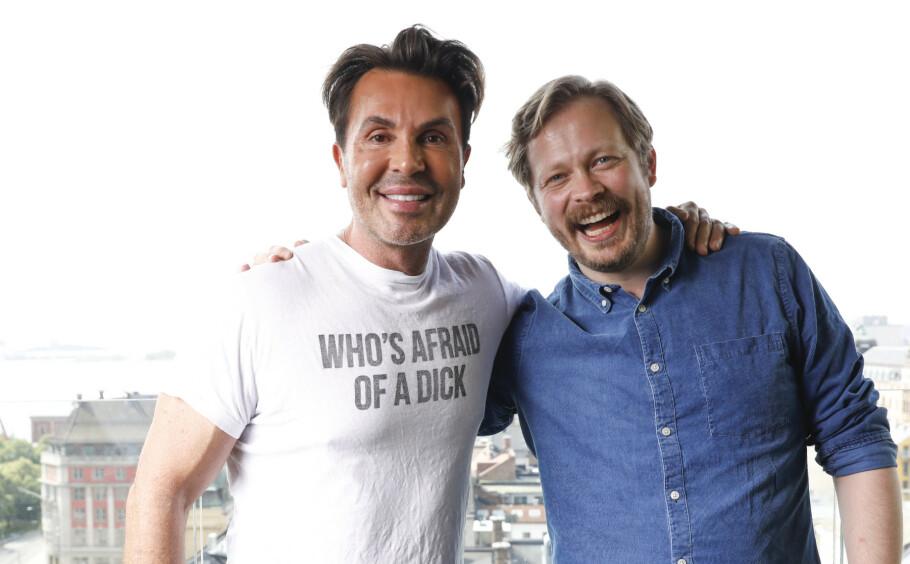 GODE VENNER: Jan Thomas og Einar Tørnquist skal lage TV ut av podkasten «Jan Thomas og Einar blir venner». Den sendes på Dplay til høsten. FOTO: NTB Scanpix