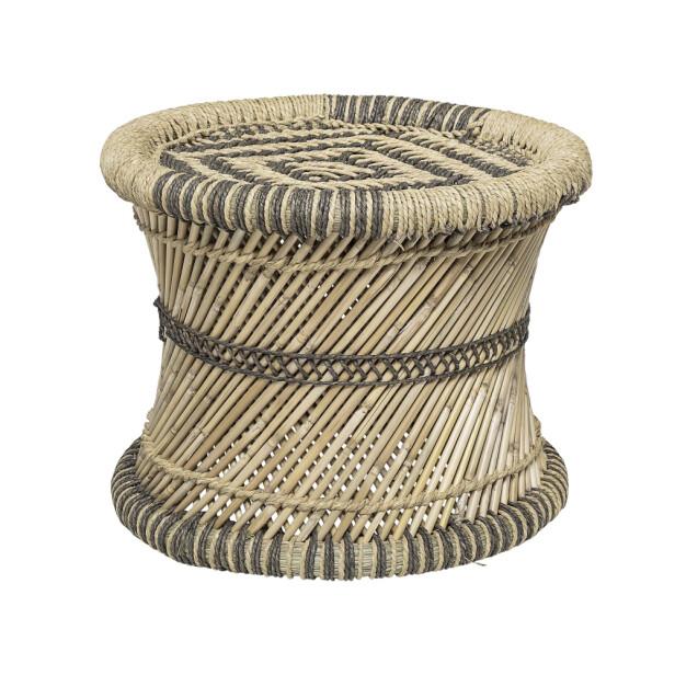 Taburett i bambus og jute (kr 1150, Bloomingville).