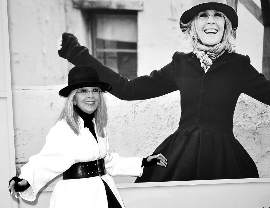 Diane Keaton er klar for sin 69. spillefilm, og har blitt fashion-influencer i en alder av 73 år (Foto: NTB/Scanpix)