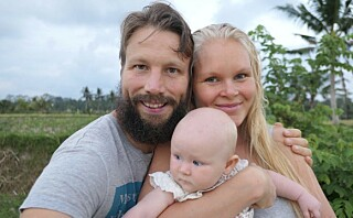 Aurora kom til verden med hjemmefødsel på Bali