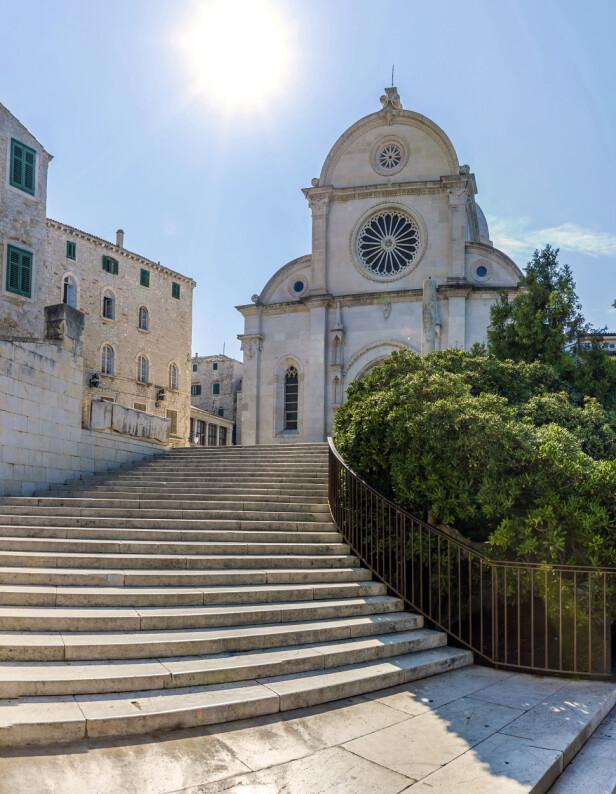 St. James Katedral blir sett på som en av de viktigste bygningene med renessansearkitektur i hele Kroatia. FOTO: NTBSCANPIX