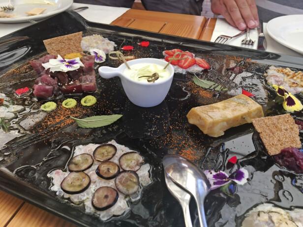 Fersk fisk på restauranten Festa i Kornati nasjonalpark. FOTO: Karoline Mathilde Rasmussen