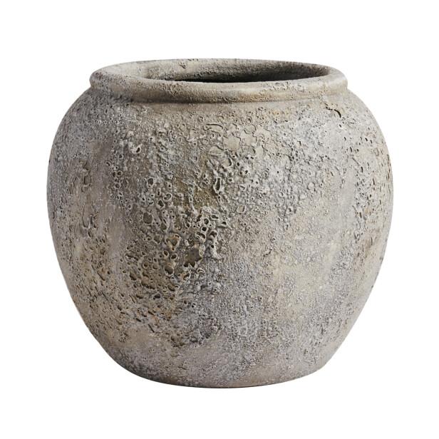 Urne i terrakotta (kr 550, Muubs). FOTO: Produsenten