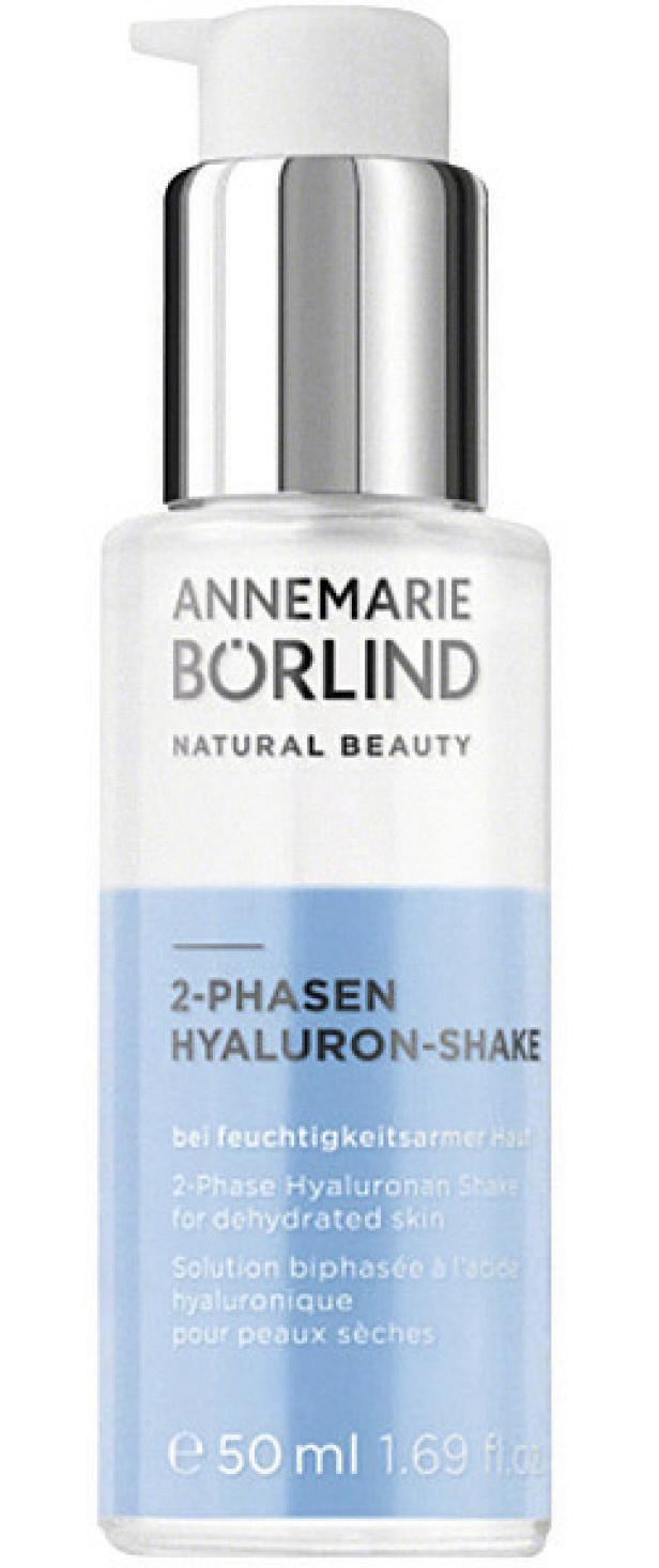 Mykgjørende med hyaluronsyre og olje (kr 340, Annemarie Börlind, 2-Phasen Hyaluron-Shake). FOTO: Produsenten