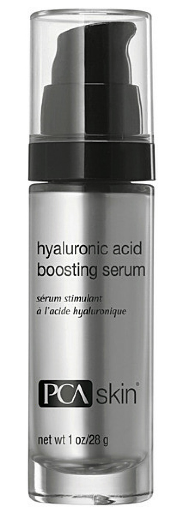 Med fire typer hyaluronsyre (kr 1590, PCA Skin, Hyaluronic Acid Boosting Serum). FOTO: Produsenten
