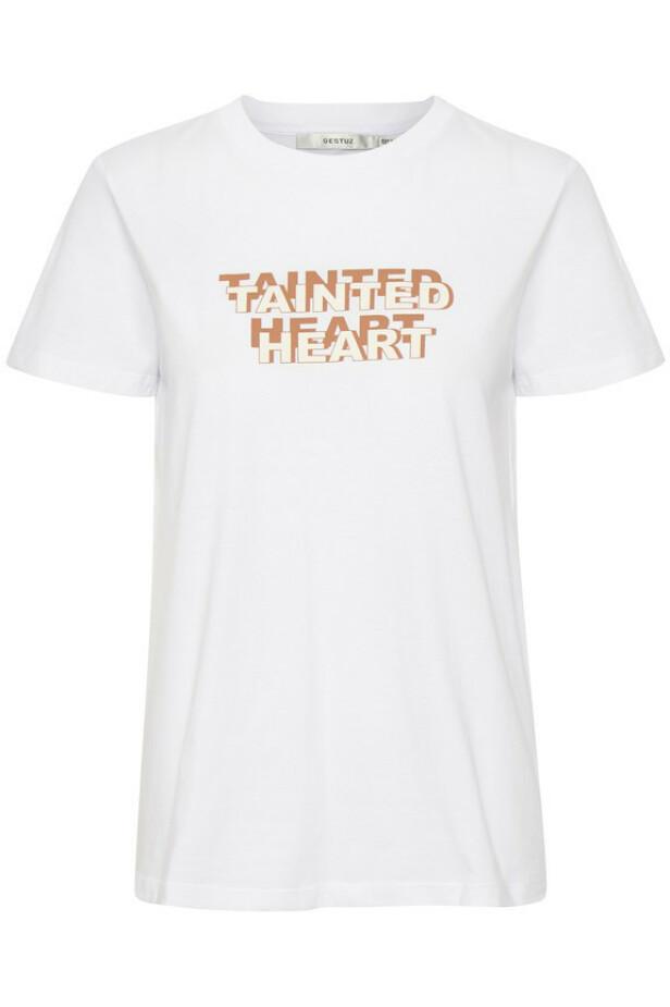 T-skjorte med trykk (kr 500, Gestuz). FOTO: Produsenten