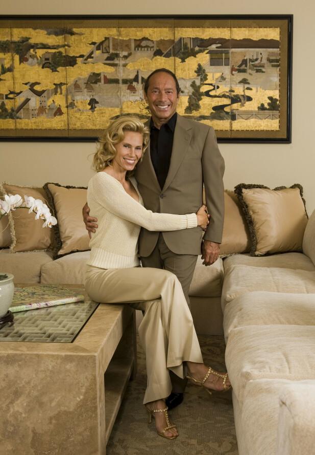 FORDUMS TIDER: Anna, mens hun var gift med Paul Anka, som var 30 år eldre enn henne FOTO: NTBScanpix