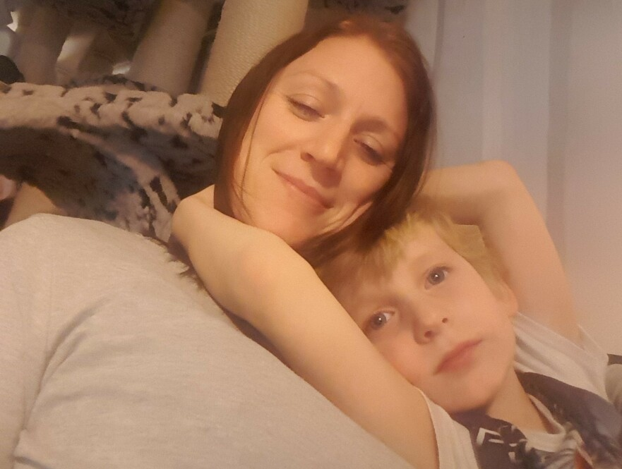 LIVLØS: Liam ble født livløs etter en hard fødsel, og måtte opereres for en hjertefeil kun ni dager gammel. FOTO: Privat