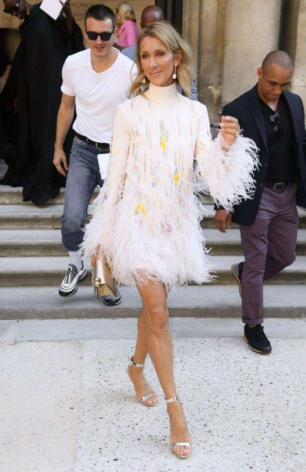 I PARIS: Celine Dion besøker årlig den franske hovedstaden for å delta på moteuken for haute couture. Foto: Scanpix