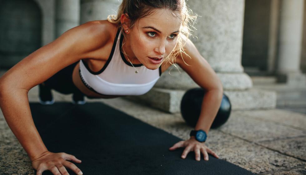 TRENING: Nå er det visstnok trendy med intelligent trening eller bevegelse. FOTO: NTB Scanpix
