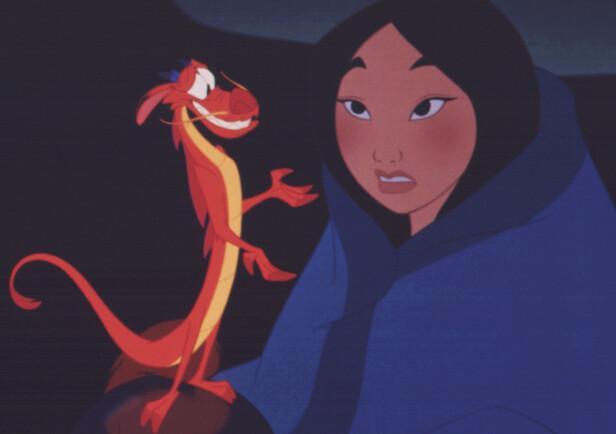 MULAN: I filmen fra 1998 møter Mulan dragen Mushu. Foto: Scanpix