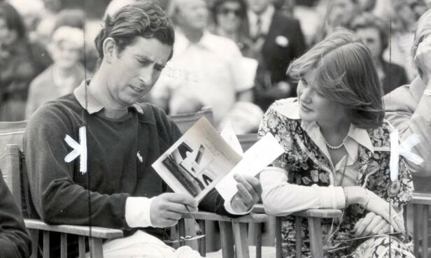 KORT FORHOLD: Prins Charles og Dianas storesøster Lady Sarah McCorquodale datet en kort periode i 1977. Forholdet ble avsluttet, men han fikk siden øynene opp for Sarahs lillesøster Diana Spencer. Resten er historie. Dette bildet av Sarah og Charles er fra 1977. FOTO: NTB Scanpix