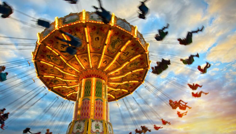 FORNØYELSESPARK: Antall besøk i fornøyelsesparker synker. FOTO: NTB Scanpix