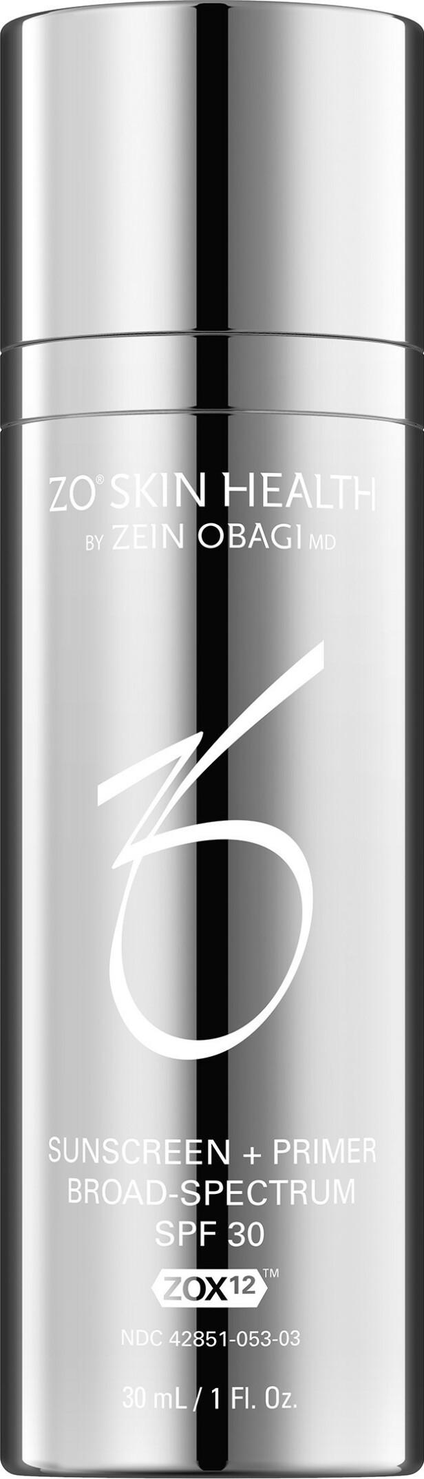 Solkrem med primereffekt (kr 865, ZO Skin Health, Sunscreen+Primer, SPF 30).