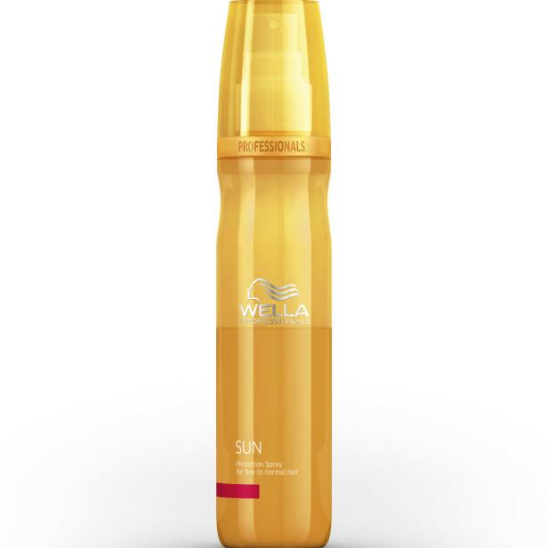 Gjør håret mykt (kr 235, Wella Sun Protect Spray).