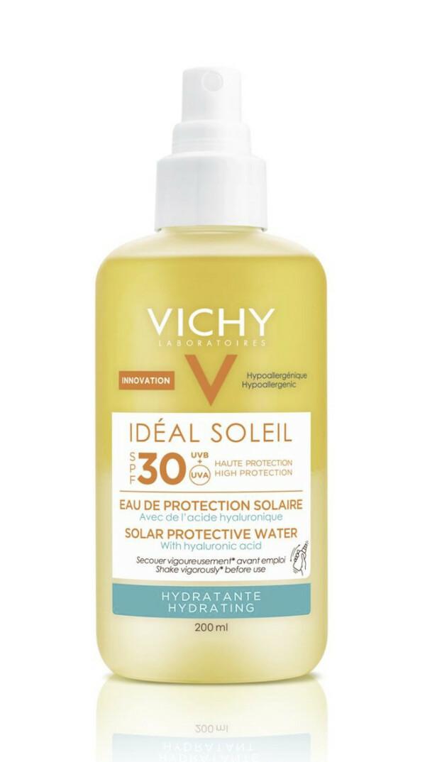 Fuktighetsgivende (kr 290, Vichy, Idéal Soleil Solar Protective Water, SPF 30).