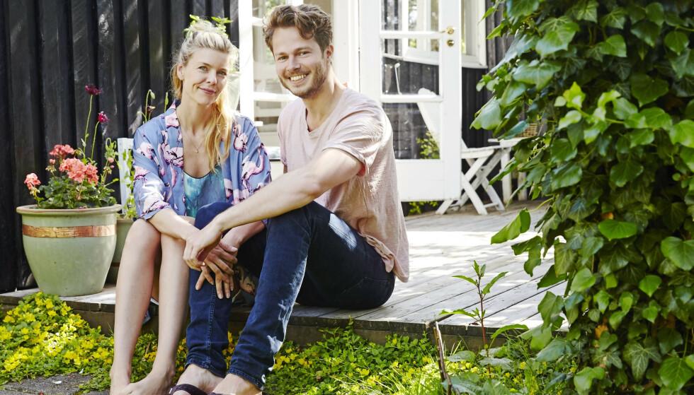 KOLONIHAGE: Gitte og Martin har eid kolonihagehuset siden våren 2016, og tilbringer så mye tid som mulig her. FOTO: Stylesystemet