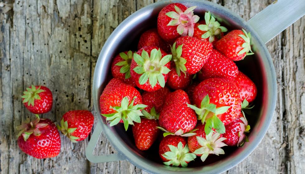 JORDBÆR: Vi har samlet 7 interessante fakta om jordbær - som du kanskje ikke visste om. FOTO: NTB