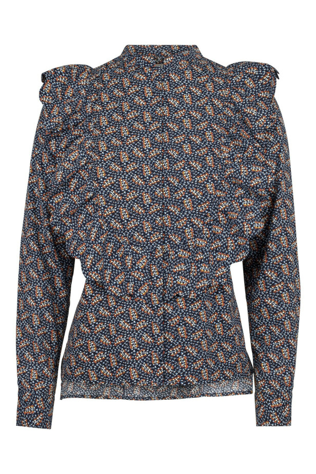 Mønstrete bluse (kr 1200, Maud). FOTO: Produsenten
