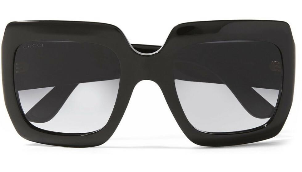 Store solbriller (kr 2630, Gucci). FOTO: Produsenten