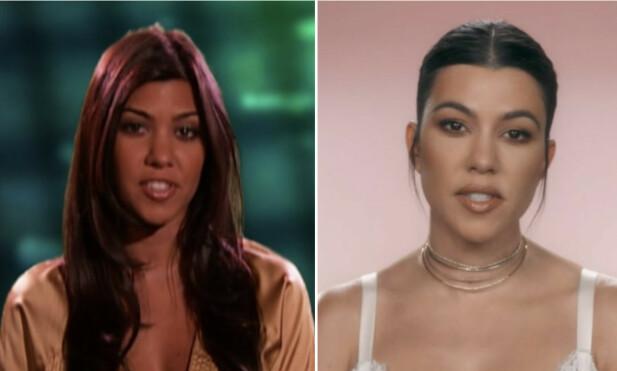STORESØSTER: Den eldste av Kardashian-søstrene, Kourtney, har forandret seg lite på 12 år. FOTO: E! News
