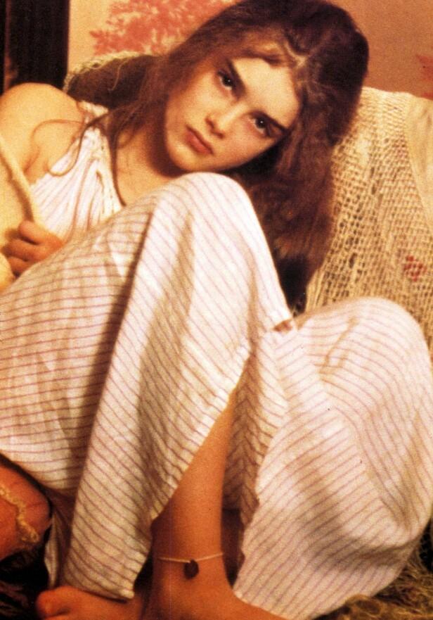 <strong>PRETTY BABY:</strong> Brooke Shields var bare 11-12 år da hun spilte prostituert i filmen Pretty Baby. FOTO: NTB Scanpix