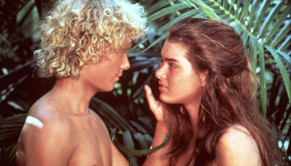 <strong>DEN BLÅ LAGUNE:</strong> I 1980 kom denne filmen ut, som ble spilt inn på Fiji. Brooke Shileds fylte 15 det året filmen ble vist på kino. FOTO: NTB Scanpix