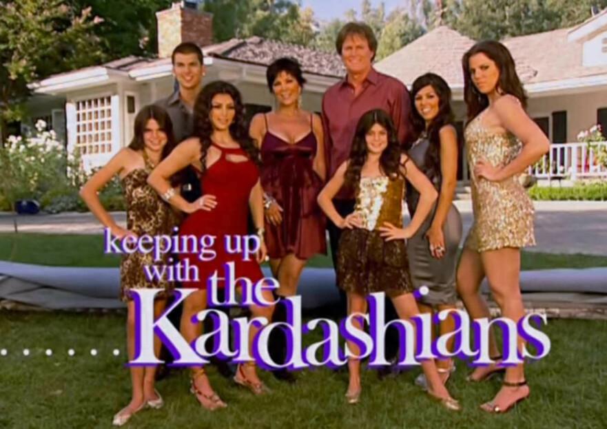 DEN GANG DA: Slik så det ut da den første sesongen av «Keeping Up With The Kardashians» kom på lufta i 2007. FOTO: E!