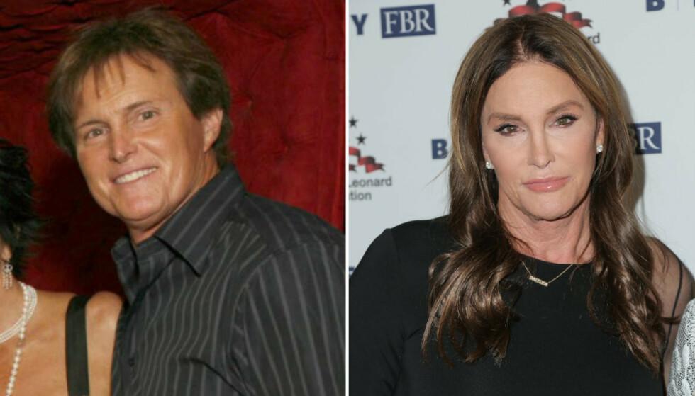 DA OG NÅ: Caitlyn Jenner – tidligere Bruce Jenner – må naturlig nok sies å være den som har forandret seg mest utseendemessig. FOTO: E! News
