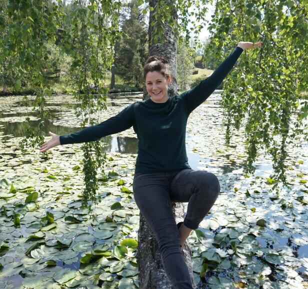 HJEMME: Ragnhild er hjemme på ferie i Norge, langt fra den hektiske hverdagen i L. A. Foto: Privat