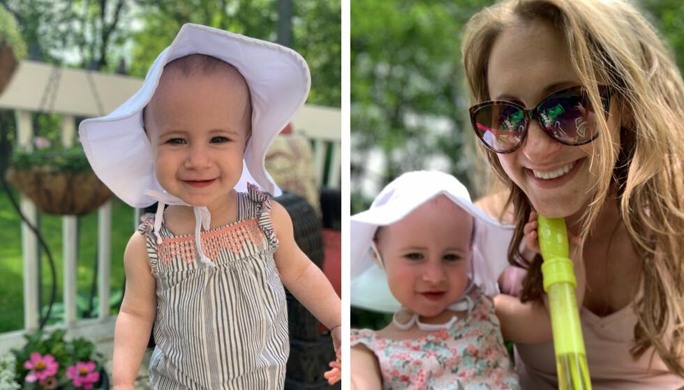 TRAGISK ULYKKE: - Vi kommer aldri til å glemme Chloe. Hun betydde så mye for så mange, og var lyset i vår liv, sier mamma Kimberly Wiegand i et intervju med TODAY. I begynnelsen av juni mistet hun og ektemannen sin 18 måneder gamle datter Chloe Wiegand. FOTO: NTB Scanpix