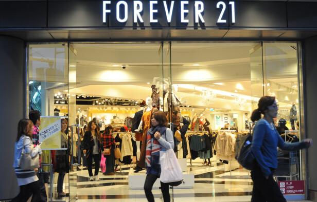 <strong>FOREVER 21:</strong> Kjedebutikken er i hardt vær etter at de sendte ut diett-barer til kundene sine. Foto: Scanpix