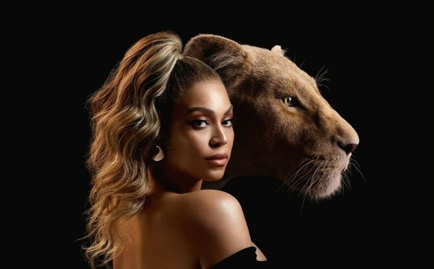 STJERNESPEKKET SUKSESS: Selveste Beyoncé er blant kjendisene som har lånt bort stemmen sin til Disneys nye «Løvenes Konge». Nå har det blitt kjent hva sangeren håvet inn som følge av rollen. FOTO: Disney