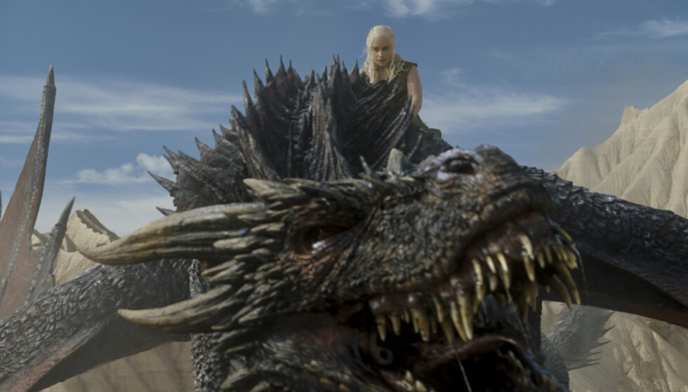 TRIKS: Har du lurt på hvordan dragene til Daenerys Targaryen i «Game of Thrones» ser ut i virkeligheten? Vi har svaret! FOTO: HBO
