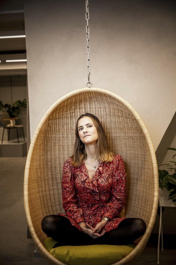 – Jeg ville gjøre store oppdagelser, vinne nobelprisen, redde verden, sier Katarina. FOTO: Rickard L. Eriksson