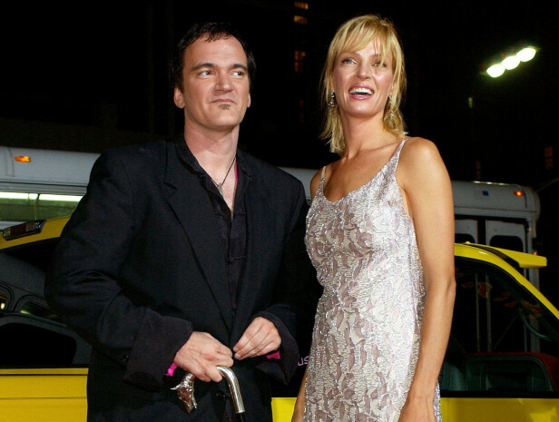 MUSE: Tarantino har brukt Uma Thurman som skuespiller i flere av filmene sine, og har nå også gitt en rolle til hennes datter i sin nyeste film. Her fra premieren av Kill Bill: Volume 1 i 2003. FOTO: NTB Scanpix