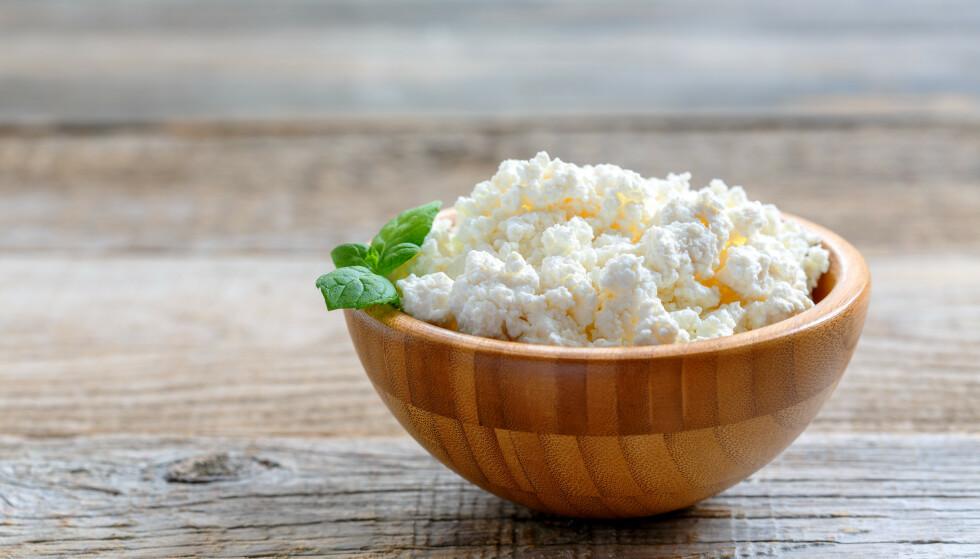 PERFEKT MELLOMMÅLTID: Cottage cheese er både allsidig og veldig sunt.